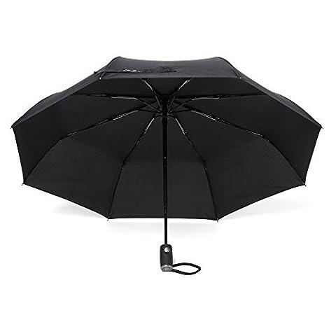 Arcadia extérieur parapluies avec glidetech–Protection maximale de voyage 106,7cm Canopy Parapluie résistant au vent–Ouverture/fermeture automatique–Garantie à vie & # x192; Noir noir