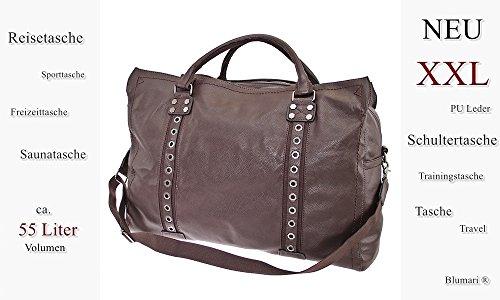 TASCHE Raumwunder die perfekte Citytasche Reisetasche Travelbag Reisegepäck Sporttasche Gepäcktasche (Coffee) Coffee