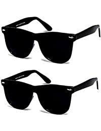 Y&S Black Brown Wayfarer Unisex Sunglasses For Mens Combo (Simple-Black-Black-Wayfarer-Combo)