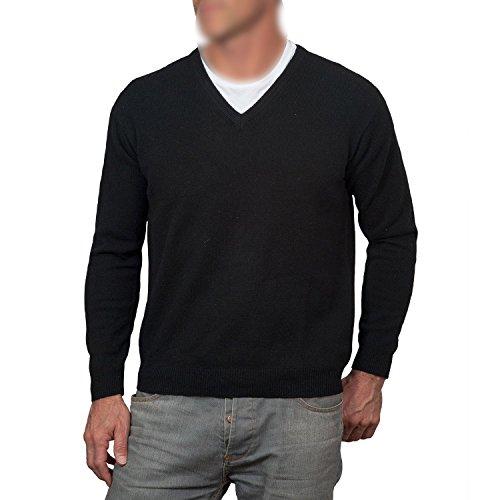SODIAL (R) Hombres casual delgado V-cuello chaqueta