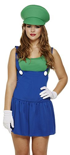 ady Workman Plumber Kostüm Outfit (Luigi Outfit)