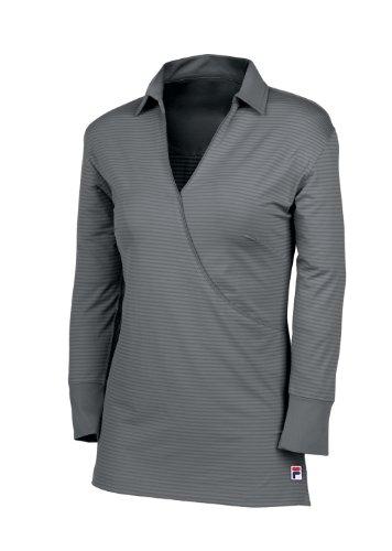 Fila Golf Damen Volterra Polo Shirt, Damen, Silber, Medium