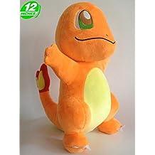 Pokémon–Peluche de Salamèche/Charmander, 30cm de pie
