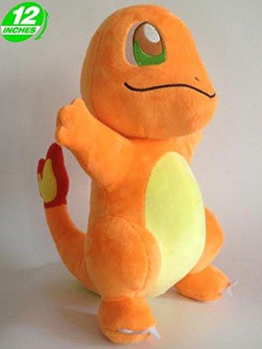 Pokemon Peluche Charmander/Glumanda/Salameche de Pie 30cm