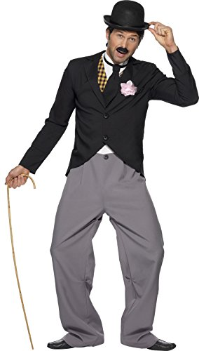 1920er Star Kostüm mit Jacke Hose Mock Weste und Schlips, Medium