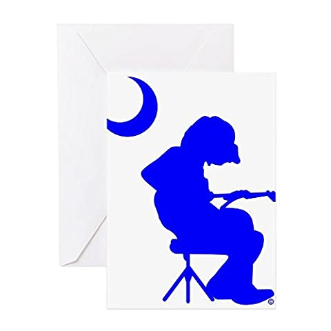 CafePress - Palmetto Moon Flag Mikey Houser Guitar Player Gree - Greeting Card, Note Card, Birthday Card, Blank Inside Matte