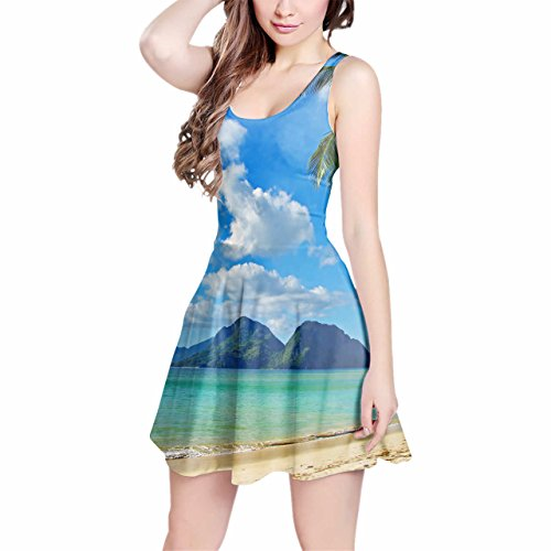 Island Kleider Fun (Paradise Island Sleeveless Dress - 3XL Kleid)