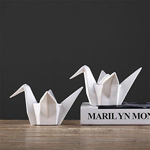 Jack Mall- Scandinavian moderne minimalistische kreative Keramik Hausrat- Origami Kraniche aus Papier weich Eingang TV-Schrank Dekorationen ornaments88