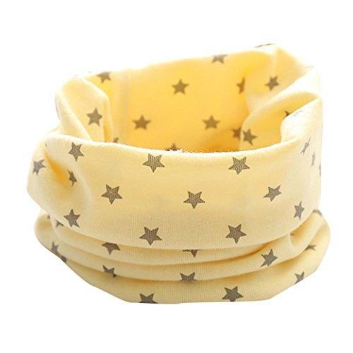sunnymi Unisex Warmen Kinderschal Blätter Muster Mädchen Jungen Kleine Herbst Winter Loop Lässig Täglich Party Fotoshooting Geschenke (Star Gelb) (Bettwäsche Shorts Vintage)