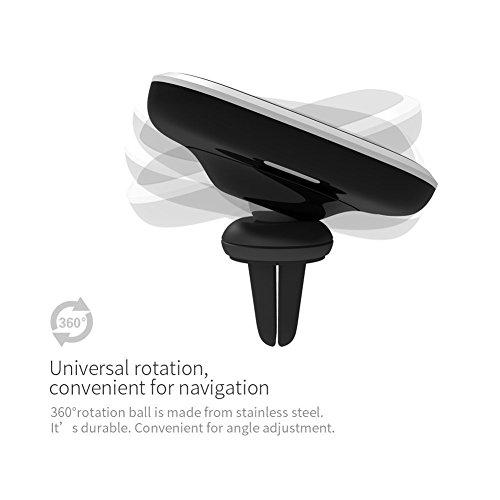 Caricabatteria wireless per auto, Magnetic Wireless Car Charger Car Holder, Nillkin 2-in-1 Qi Caricatore senza fili di ricarica e supporto magnetico per auto [con ventola daria per auto