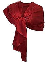 Amazonit Coprispalle Donna Elegante Rosso Sciarpe E Stole