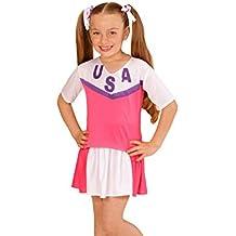Disfraz animadora rosa y blanco niña - De 8 a 10 años