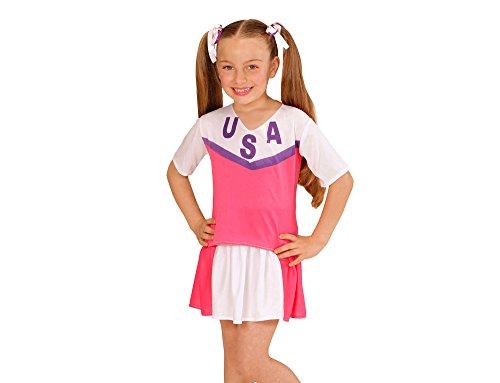 Widmann WDM00617 - Costume Per Bambini Cheerleader (140 cm/8-10 Anni ), Bianco, XS