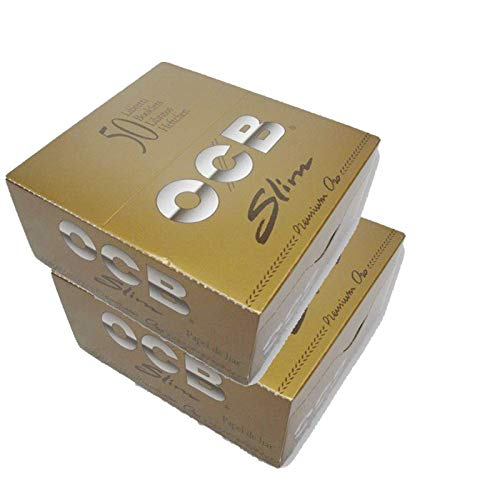 SCORIA Gold OCB King Size Rolling Paper Pack Of 100-2 Full Box (3200 Leaves)