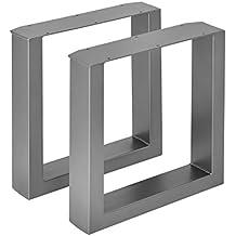 [en.casa] 2 x Conjunto de Patas de mesa - Set de 2x patas de mesa - Metal - Patas de los muebles - 40 x 43 cm - Para banco o para ...
