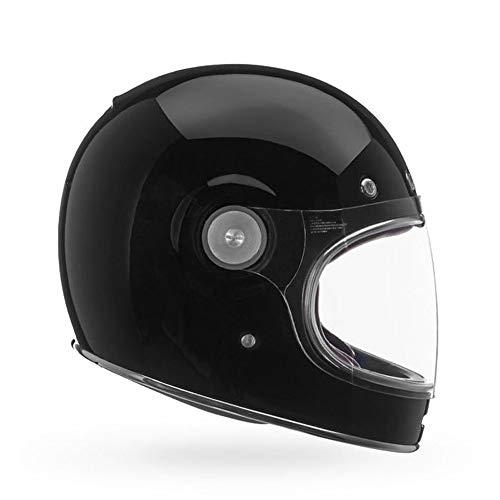Bell Powersports Bullitt Motorradhelm, Schwarz (Solid Schwarz), L