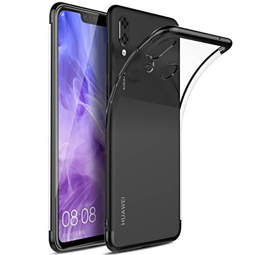 KuGi Huawei Nova 3 Hülle, Kratzfeste Hülle Huawei Nova 3 Schutzhülle Soft TPU Case Ultradünn Cover [Slim-Fit] [Anti-Scratch] [Shock Absorption] für Huawei Nova 3 Smartphone. Schwarz