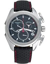 Tissot T0186171605100 - Reloj analógico de caballero de cuarzo con correa de piel negra