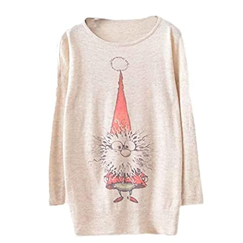 Femmes Femmes Batwing Noël à manches longues en vrac Pull en maille, hiver Tops Knitwear Colorful