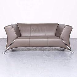 Rolf Benz 322 Designer Leder Sofa Braun Echtleder Zweisitzer Couch #6668