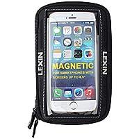 LEXIN MTB03 Große Größe Schwarz Motorrad/Sportbike Magnetische Tankrucksack/Tasche Handyhalter/Fall Bis zu 6.5 '' Bildschirm iPhone/Android