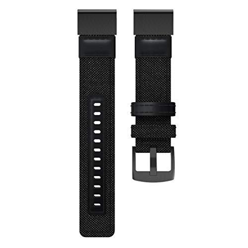 KimcHisxXv Armband Kompatibel für Garmin Fenix   5X / 5X Plus/Fenix   3/3 HR 26mm, Canvas Uhrenarmband Handgelenkband für Garmin Fenix   5X / 5X Plus/Fenix   3/3 HR Armband -