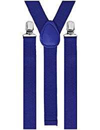 Bretelles de pantalon élastiques 3clips, unisexe, réglable
