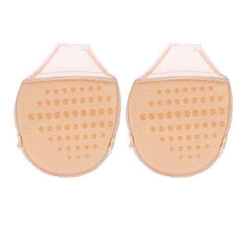 Healifty 3 pares de Gel de tacón alto para delante almohadillas de cojín protector de dedo del pie Manga de soporte para ballet dance zapato acentuado atleta (caqui)