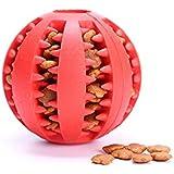 Ecloud Shop® Juguetes para mascotas Forma de sandía resistente a morder la pelota, dientes limpios no tóxicos sin olor Rojo S