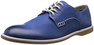 Clarks Farli Walk, Chaussures de ville homme - Bleu (Blue Leather), 41.5 EU (7.5 UK)