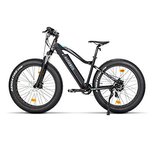 Fitifito FT26 Elektrofahrrad Fatbike E-Bike Pedelec, 48V 250W Heckmotor, 7 Gang, Kenda 26 x 4,0 MTB Reifen, Matt Schwarz Grau