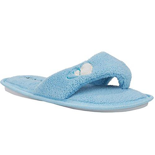 Aerusi  Slippers, Chaussons pour femme Bleu