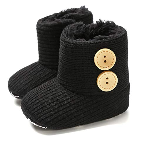 Ruiqas Newborn Baby Winter Snow Boots with Soft Non-Slip Sole,Fashion Baby Infant Toddler Girl Toddler Cozy Shoes,Cotton Comfy Shoes Winter Snow Boots