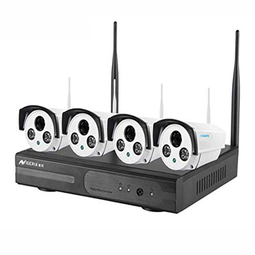 FANCYKIKI Netzwerküberwachungssuite 4-Wege-Funk-Set Kitkamera-Heimüberwachungssystem HD Probe Smart-Home-Kameraüberwachungs-Kits Baby-Monitor-Elektronik Baby Monitor Kit