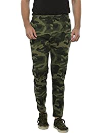 Clifton Men's Branded Comfortable Premium Value Ultra Soft Cotton Casual All Season Army Printed Jogger-Olive