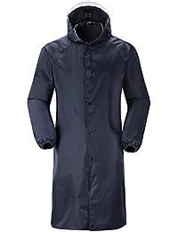 Zicac Outdoor Wetterfeste Lange Siamesischen Regenmantel Windbreaker Regenjacke Mantel Funktionsjacke Mit Kapuze Für Sicherheit Patrol Stand Guard