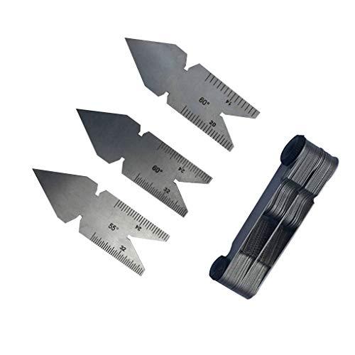 Lorsoul 4pcs Set Edelstahl Gewindesteigung Zentrum Messer 55 Grad Zoll-System und 60 Grad Metric-System