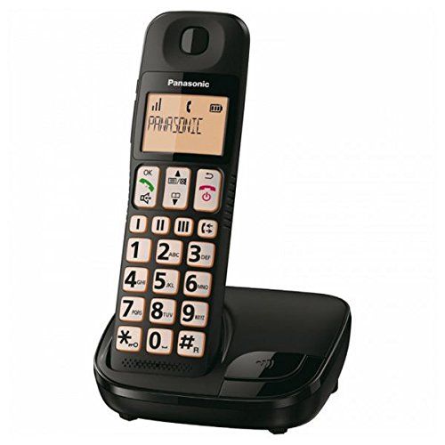 Panasonic KX-TGE310SPB - Telefono Fijo (inalambrico, Single), Negro