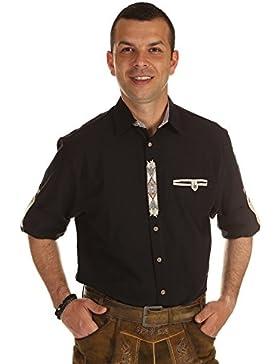 Orbis Herren Hemd Trachtenhemd mit Krempelarm 20165-1011 70 Regular Fit