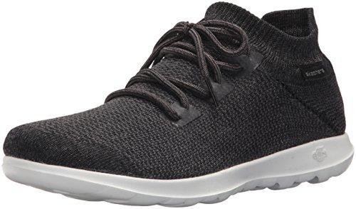 Skechers Go Walk Lite-Rise, Sneaker Infilare Donna, Nero (Black/White), 37 EU