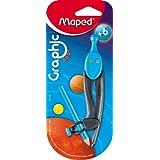 MAPED Compas Scolaire Graphic 360 degrés 100mm cercle 396 mm pour crayon