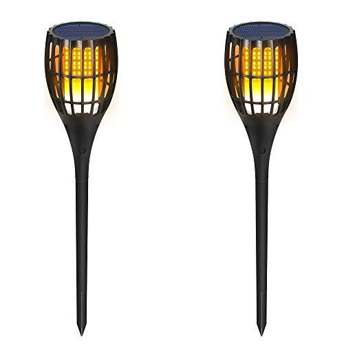 Solar Flamme Licht, Solar Licht Garten Garten Taschenlampe Licht Rasen Dekoration Taschenlampe Garten Platz Licht (2 Packungen) -