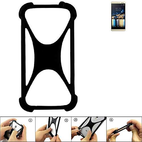 K-S-Trade Handyhülle für Switel Champ S5003D Schutz Hülle Silikon Bumper Cover Case Silikoncase TPU Softcase Schutzhülle Smartphone Stoßschutz, schwarz (1x)