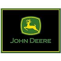 Nostalgic-art 14204John Deere Logo, calamita, 8x 6cm, colore: nero