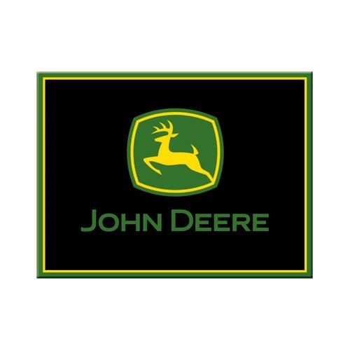 John Deere Magnet (Nostalgic-Art 14204 John Deere Logo, Magnet, 8 x 6 cm, schwarz)