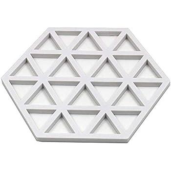 free size casseroles antid/érapant simple hexagone creux assiettes Red r/ésistant aux hautes temp/ératures dessous de plat pour plats chauds bols Tapis en silicone r/ésistant /à la chaleur