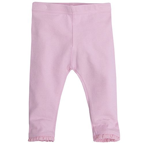 Baby Girls Leggings Cotton Rich with Elastane 0-3 Months up to 18-24 months (Pink Single, 18-24 Months)