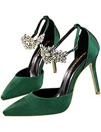 Moquite 2019 Moda Sexy Zapatos Mujer Zapatos De Tacón Mujer Primavera  Verano Sandalias Fiesta High Heels De Tacón Alto Sandalias De… 6a2ed2508500