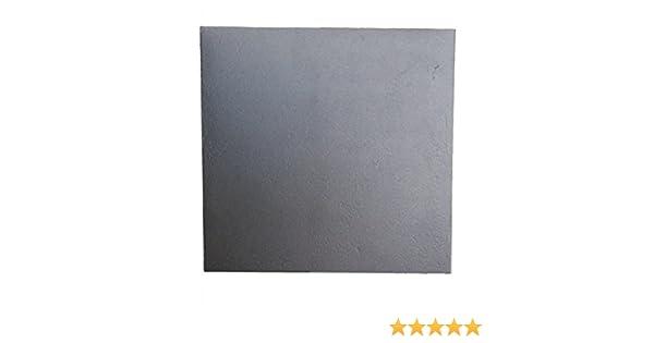 40x40 cm /épaisseur 0,8 cm Lunaway Plaque de Chemin/ée en Fonte Lisse Dimensions