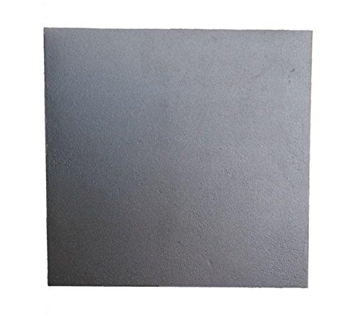 Lunaway Placa chimenea hierro fundido lisa | Dimensiones: